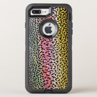 Coque OtterBox Defender iPhone 8 Plus/7 Plus Motif de regard de texture d'échelle de truite