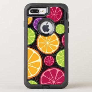 Coque OtterBox Defender iPhone 8 Plus/7 Plus Motif et arrière - plan oranges