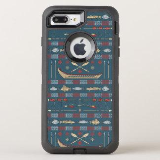 Coque OtterBox Defender iPhone 8 Plus/7 Plus Motif ethnique de pêche