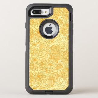 Coque OtterBox Defender iPhone 8 Plus/7 Plus Motif floral d'été dans des couleurs chaudes
