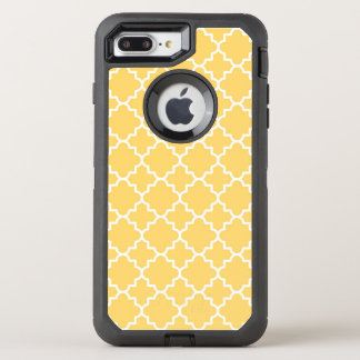 Coque OtterBox Defender iPhone 8 Plus/7 Plus Motif jaune de Quatrefoil