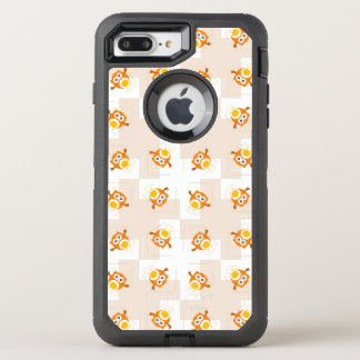 Coque OtterBox Defender iPhone 8 Plus/7 Plus Motif orange d'illustration de hibou