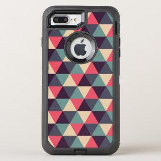Coque OtterBox Defender iPhone 8 Plus/7 Plus Motif turquoise et rose de triangle