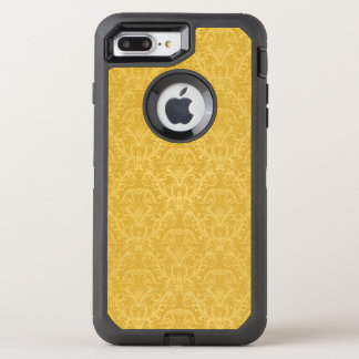 Coque OtterBox Defender iPhone 8 Plus/7 Plus Papier peint floral d'or de luxe
