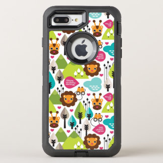 Coque OtterBox Defender iPhone 8 Plus/7 Plus rétro faune de lion de safari d'enfants