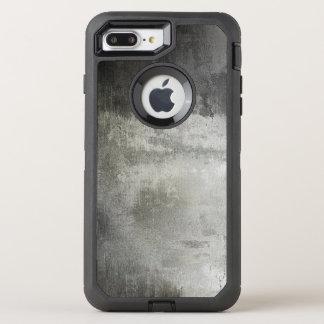 Coque OtterBox Defender iPhone 8 Plus/7 Plus texturisé noir et blanc grunge abstrait d'art