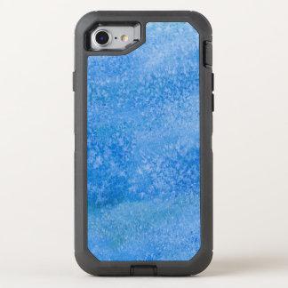 Coque Otterbox Defender Pour iPhone 7 Arrière - plan bleu d'aquarelle