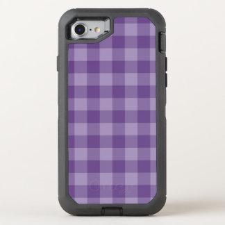 Coque Otterbox Defender Pour iPhone 7 Arrière - plan checkered violet