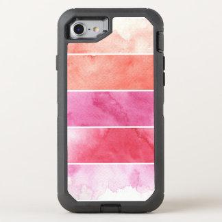 Coque Otterbox Defender Pour iPhone 7 arrière - plan de bannières d'aquarelle pour votre