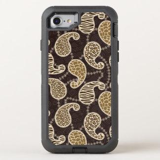 Coque Otterbox Defender Pour iPhone 7 Arrière - plan de style de Paisley