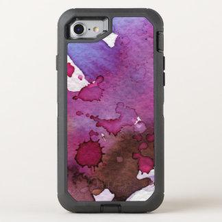 Coque Otterbox Defender Pour iPhone 7 Arrière - plan pourpre d'aquarelle
