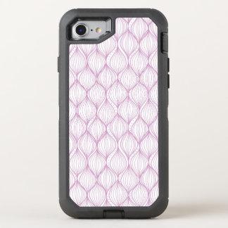 Coque Otterbox Defender Pour iPhone 7 Arrière - plan pourpre de motif de rayures d'ogee