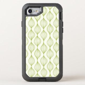Coque Otterbox Defender Pour iPhone 7 Arrière - plan vertical vert de motif d'ogee