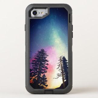 Coque Otterbox Defender Pour iPhone 7 Beau ciel nocturne brillant jusqu'aux cieux