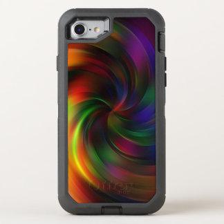 Coque Otterbox Defender Pour iPhone 7 Beau motif coloré de remous