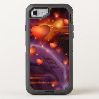 Coque Otterbox Defender Pour iPhone 7 Beau motif rouge d'amour