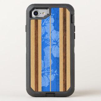 Coque Otterbox Defender Pour iPhone 7 Bois hawaïen vintage de Faux de planche de surf de