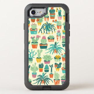 Coque Otterbox Defender Pour iPhone 7 Caisse colorée de l'iPhone 7 de motif de fleur de