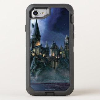 Coque Otterbox Defender Pour iPhone 7 Château | Hogwarts éclairé par la lune de Harry