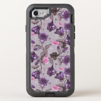 Coque Otterbox Defender Pour iPhone 7 cloches de main violettes et motif de papillons