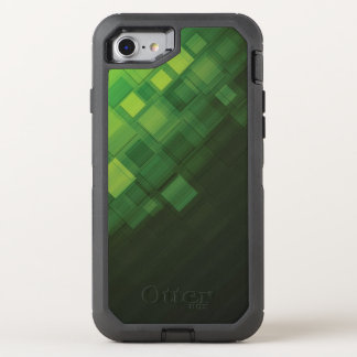 Coque Otterbox Defender Pour iPhone 7 Conception abstraite verte de technologie