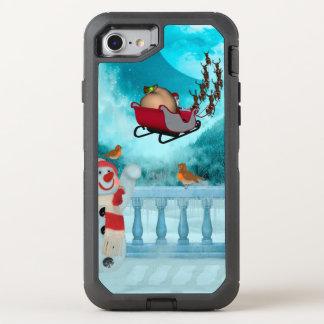 Coque Otterbox Defender Pour iPhone 7 Conception de Noël, le père noël