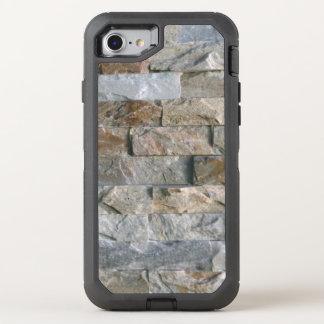 Coque Otterbox Defender Pour iPhone 7 Dalles grises empilées de pierre de granit