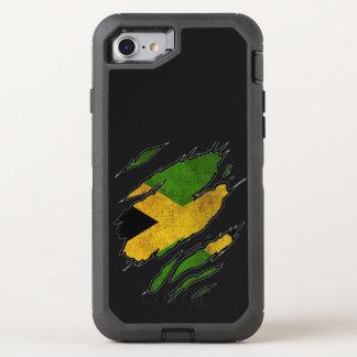 Coque Otterbox Defender Pour iPhone 7 Drapeau déchiré de la Jamaïque