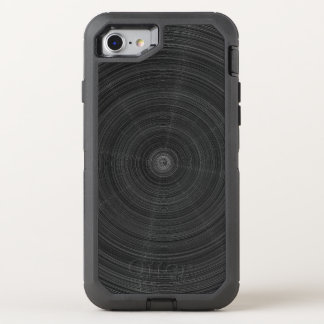 Coque Otterbox Defender Pour iPhone 7 Éclat en acier de cercle noir mat