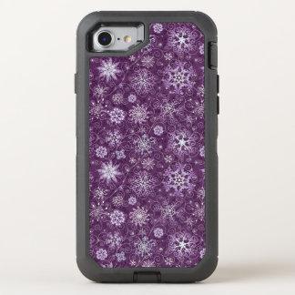 Coque Otterbox Defender Pour iPhone 7 Flocons de neige pourpres pour la douleur
