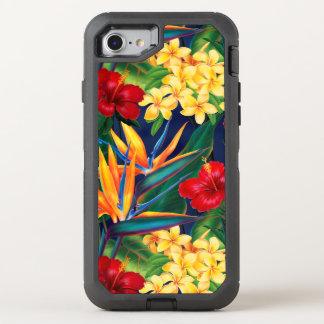 Coque Otterbox Defender Pour iPhone 7 Floral hawaïen de paradis tropical
