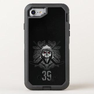 Coque Otterbox Defender Pour iPhone 7 Gardien de but atroce d'hockey (personnalisé)