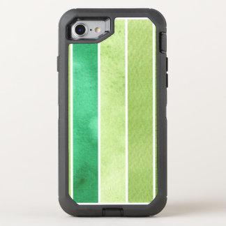 Coque Otterbox Defender Pour iPhone 7 grand arrière - plan vert d'aquarelle - aquarelle