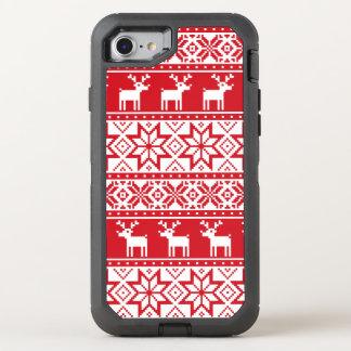Coque Otterbox Defender Pour iPhone 7 iPhone laid 7 de chandail de Noël