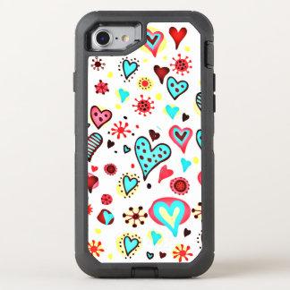 Coque Otterbox Defender Pour iPhone 7 Je t'aime coeurs