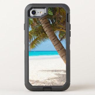 Coque Otterbox Defender Pour iPhone 7 L'eau tropicale de turquoise de palmier de sable