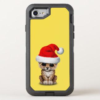 Coque Otterbox Defender Pour iPhone 7 Léopard mignon CUB utilisant un casquette de Père