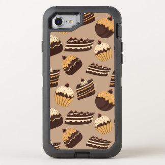 Coque Otterbox Defender Pour iPhone 7 Motif 3 de chocolat et de pâtisseries