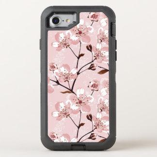 Coque Otterbox Defender Pour iPhone 7 Motif de fleurs de fleurs de cerisier