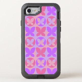 Coque Otterbox Defender Pour iPhone 7 Motif de papillon rose pourpre magenta de
