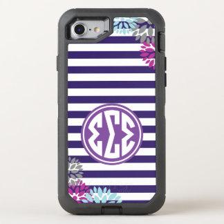 Coque Otterbox Defender Pour iPhone 7 Motif de rayure de monogramme du sigma | de sigma