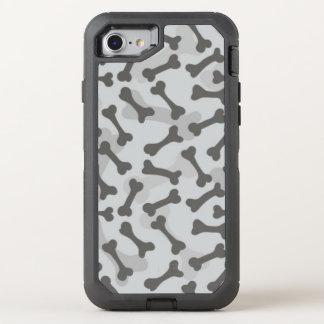 Coque Otterbox Defender Pour iPhone 7 Motif de texture d'os à fond gris