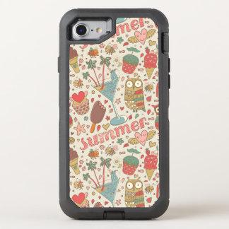Coque Otterbox Defender Pour iPhone 7 Motif d'été avec la crème glacée