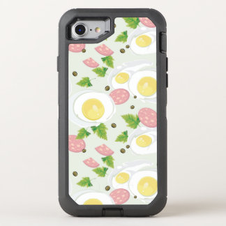 Coque Otterbox Defender Pour iPhone 7 Motif d'oeufs et de saucisse