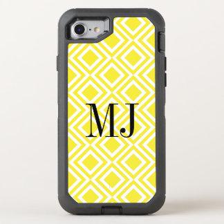 Coque Otterbox Defender Pour iPhone 7 Motif géométrique de diamant jaune de monogramme