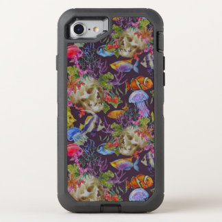 Coque Otterbox Defender Pour iPhone 7 Motif grunge de vie marine