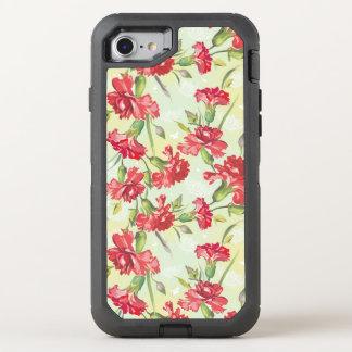 Coque Otterbox Defender Pour iPhone 7 Oeillets rouges sur le vert avec des papillons
