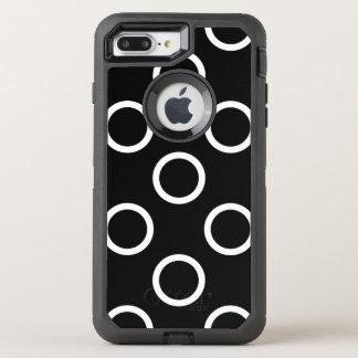 Coque Otterbox Defender Pour iPhone 7 Plus Anneaux de point de polka - blanc