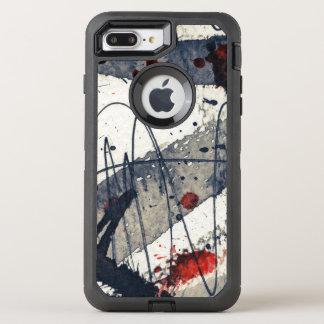 Coque Otterbox Defender Pour iPhone 7 Plus Arrière - plan grunge abstrait, texture d'encre
