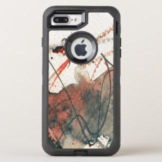 Coque Otterbox Defender Pour iPhone 7 Plus Arrière - plan grunge abstrait, texture d'encre. 5